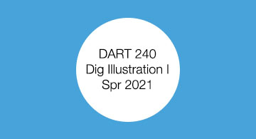 DART 240. Digital Illustration I. Student work.